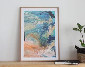 Orange Coral Reef Print