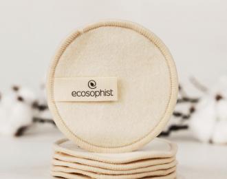 Reusable Makeup Pads Organic Hemp – 6 Pcs