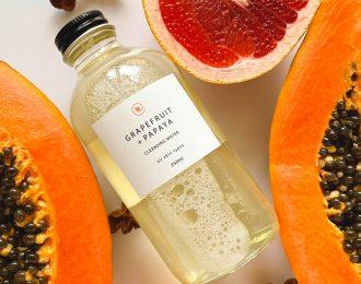 Grapefruit + Papaya Cleansing Water