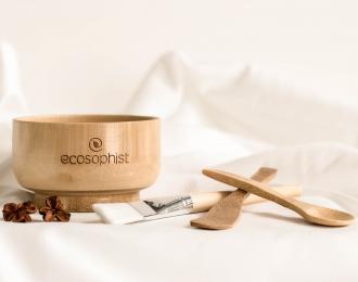 Zero Waste Bamboo Mixing Bowl Kit